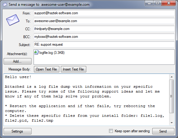 SMTP Mail Sender screenshot