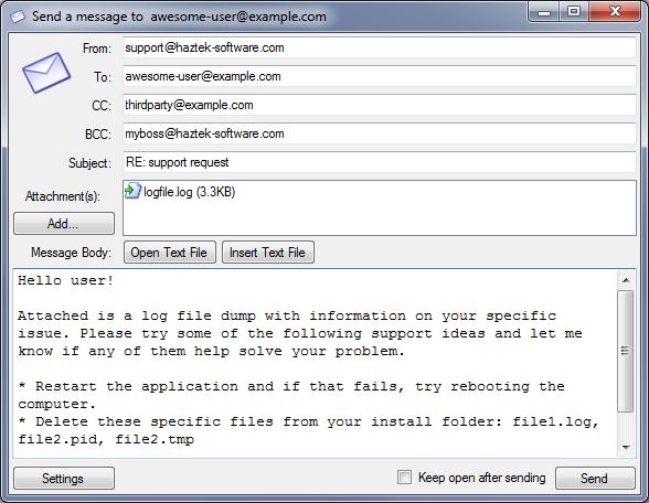 email sender: