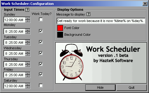 HazteK Software | Work Scheduler